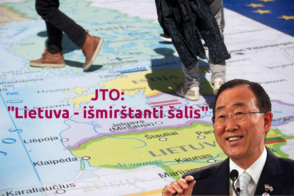 """Jungtinių Tautų Organizacija: """"Latvija, Estija, Lietuva ir Ukraina - mirštančios Europos šalys"""""""