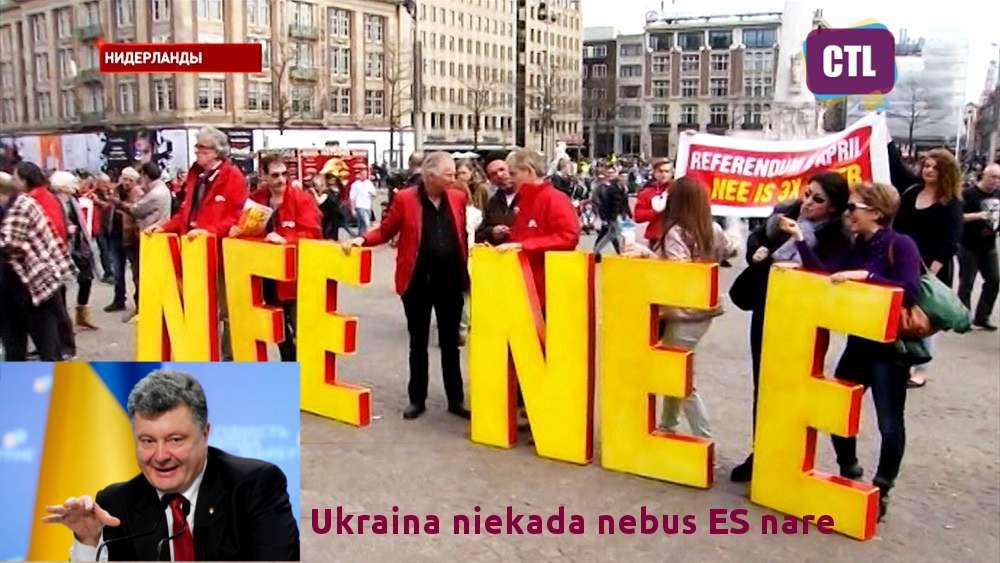"""Ukrainos diena"" Olandijoje baigėsi griežtu ""ne""!"