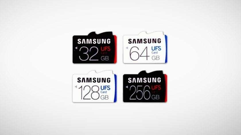 """""""Samsung"""" pristatė pirmąsias pasaulyje itin sparčiai veikiančias UFS atminties korteles"""