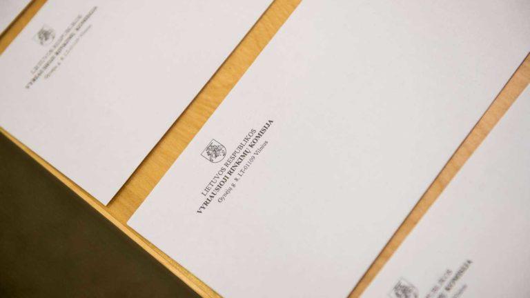 Burtai mesti: partijų eiliškumas biuleteniuose nustatytas