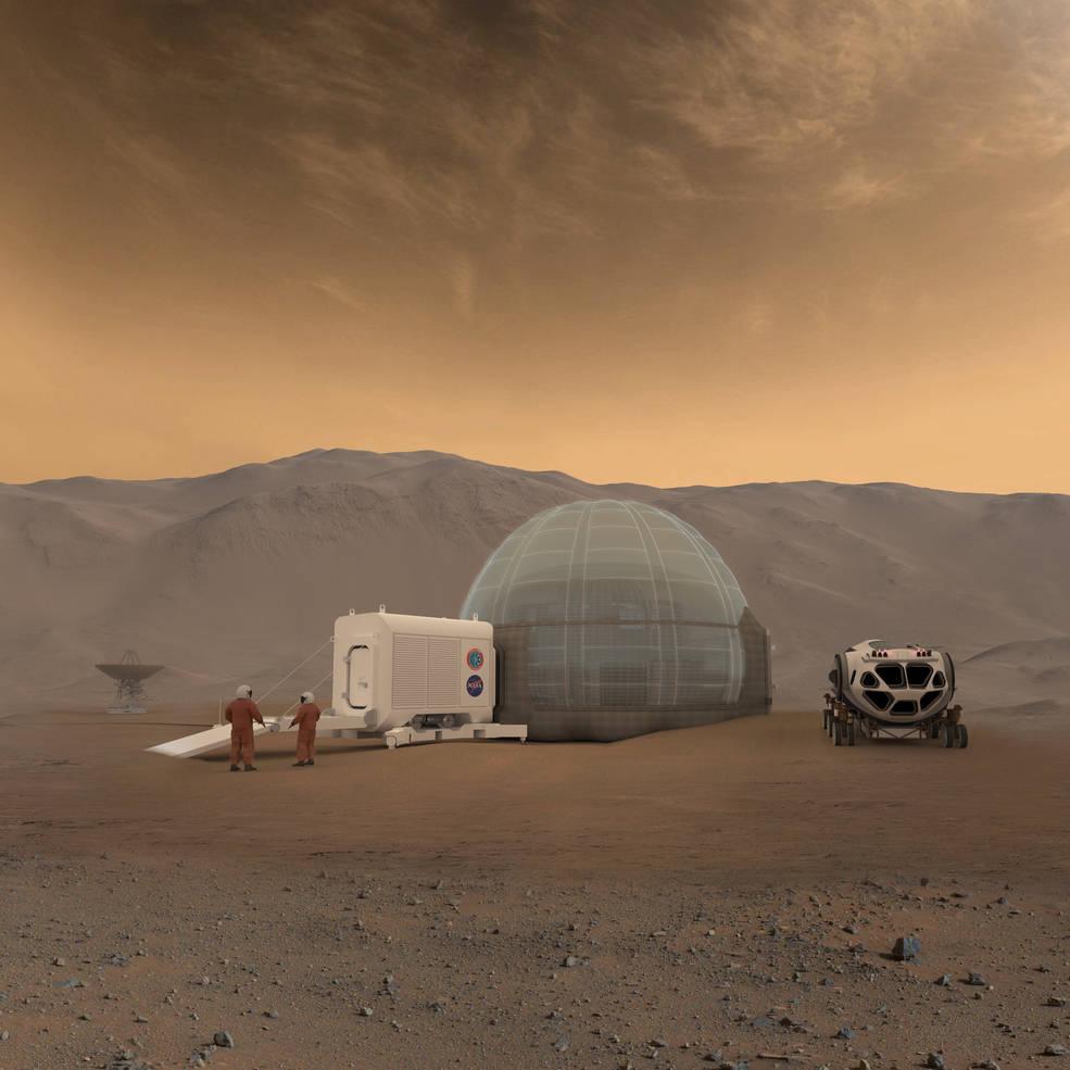 Marsas NASA iliustracija