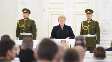 Lietuvos Respublikos Prezidentės Dalios Grybauskaitės kalba geriausių metų sportininkų apdovanojimo ceremonijoje