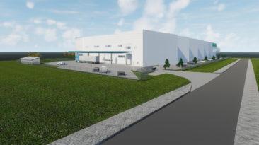 Šalia vakarinio aplinkkelio už 8 mln. eurų statomas sandėlis su administracinėmis patalpomis.