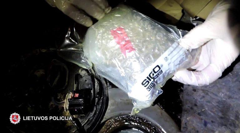 Kauno rajono gyventojas įkliuvo su 15 kilogramų narkotikų