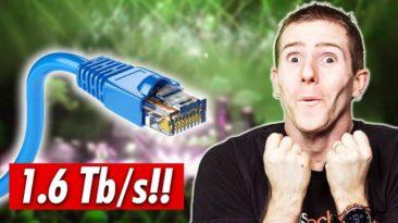 Greičiausias internetas pasaulyje 1.6 Tb / s